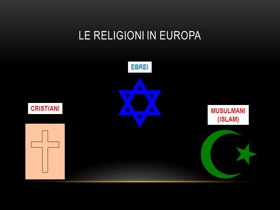LE RELIGIONI IN EUROPA CRISTIANI EBREI MUSULMANI (ISLAM)