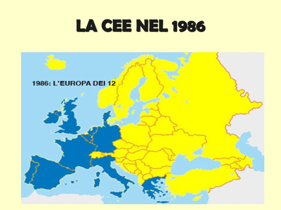 LA CEE NEL 1986