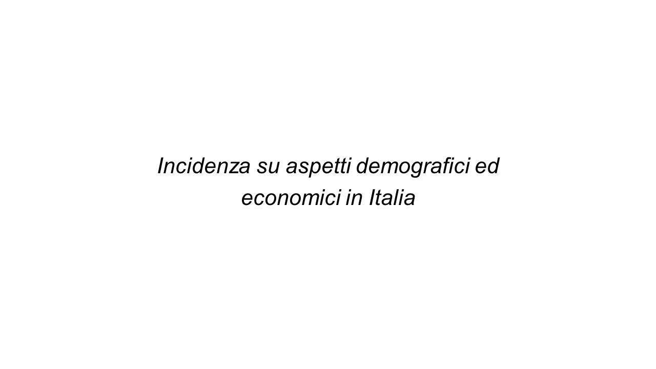 Incidenza su aspetti demografici ed economici in Italia