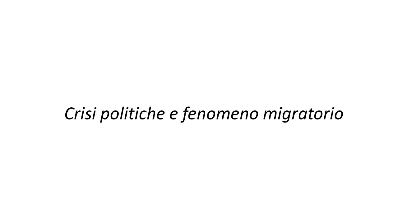 Crisi politiche e fenomeno migratorio