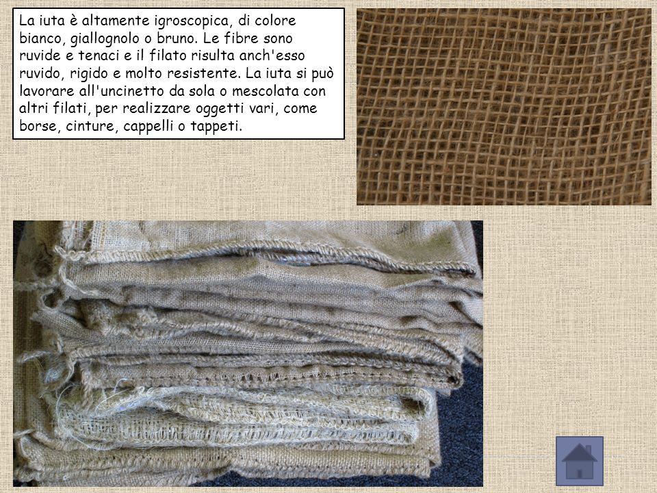 La juta (detta anche iuta o corcoro) è una fibra tessile naturale ricavata dal fusto della pianta del genere Corchorus. Circa l'85% della produzione m