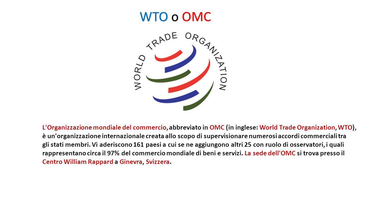 IMF o FMI Il Fondo monetario internazionale (International Monetary Fund, di solito abbreviato in FMI in italiano e in IMF in inglese) è un organizzazione composta dai governi nazionali di 188 Paesi e insieme al gruppo della Banca Mondiale fa parte delle organizzazioni internazionali dette di Bretton Woods, dal nome della località in cui si tenne la conferenza che ne sancì la creazione.