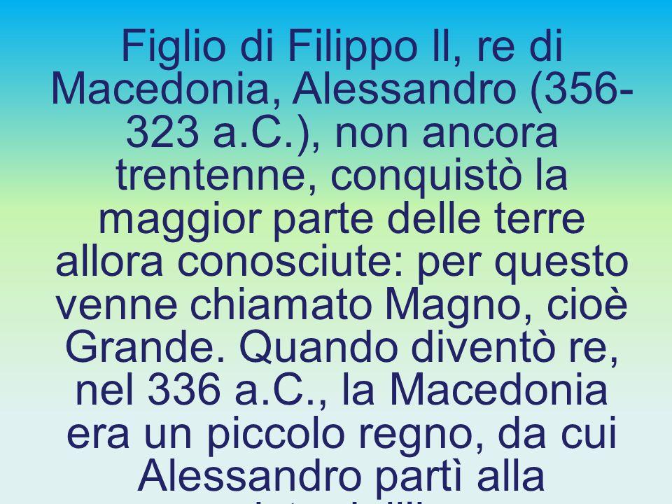 ALESSANDRO MAGNO E L'ELLENISMO