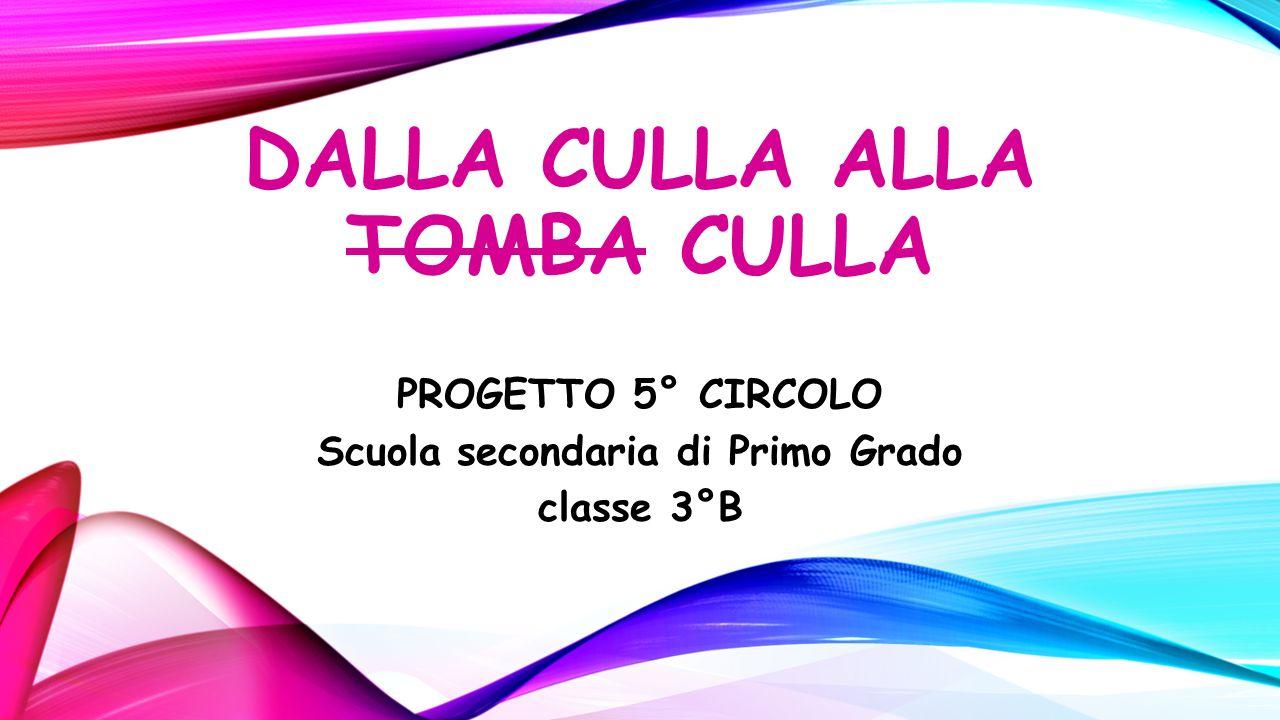 DALLA CULLA ALLA TOMBA CULLA PROGETTO 5° CIRCOLO Scuola secondaria di Primo Grado classe 3°B