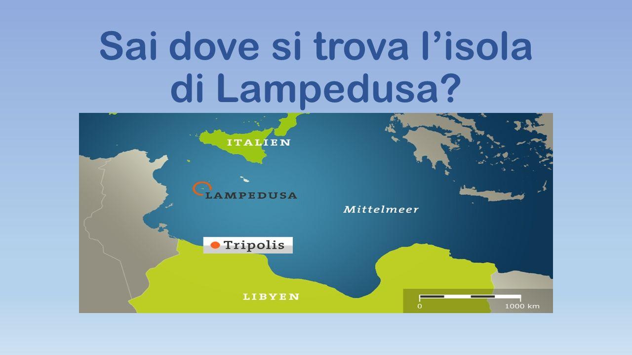 Sai dove si trova l'isola di Lampedusa?