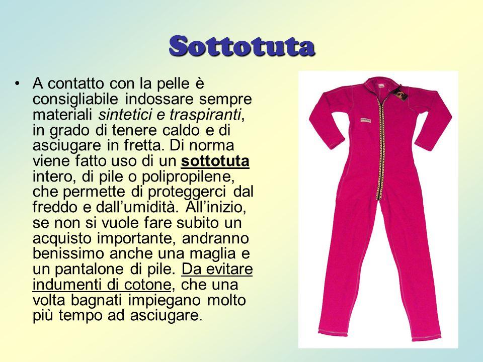 Tuta Sopra il sottotuta, in genere si indossa una tuta.