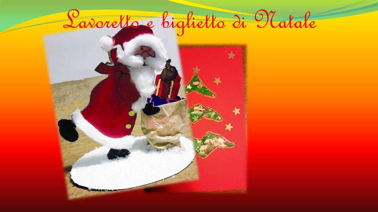 Lavoretto e biglietto di Natale