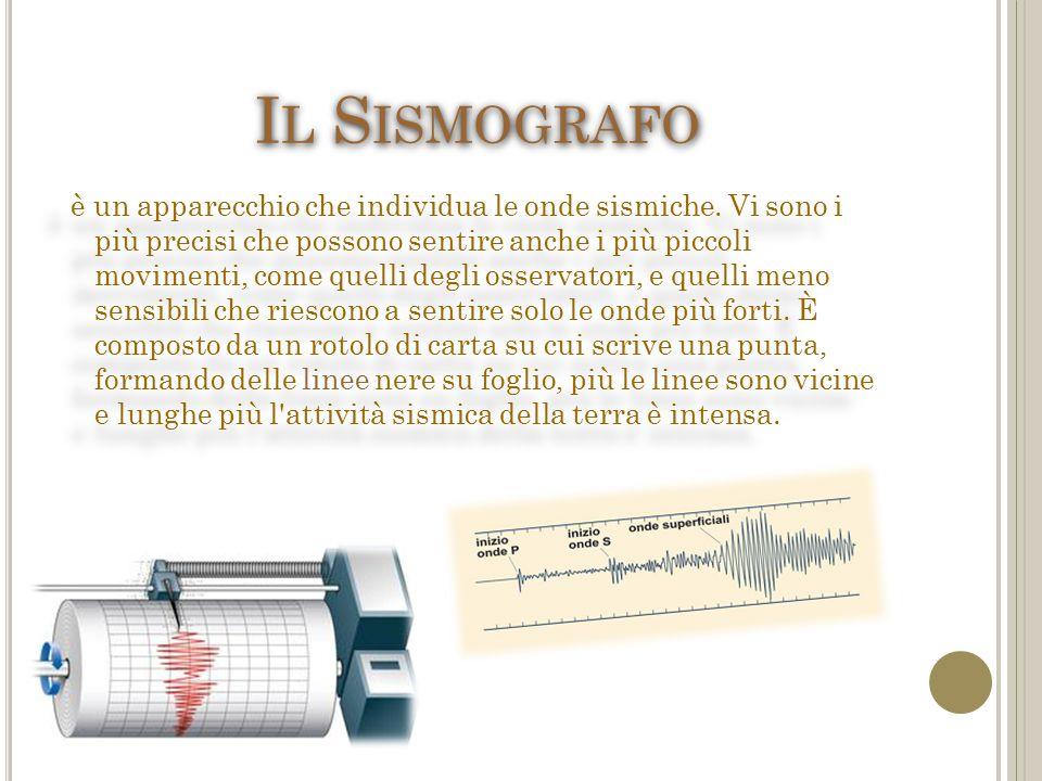 I L S ISMOGRAFO è un apparecchio che individua le onde sismiche.