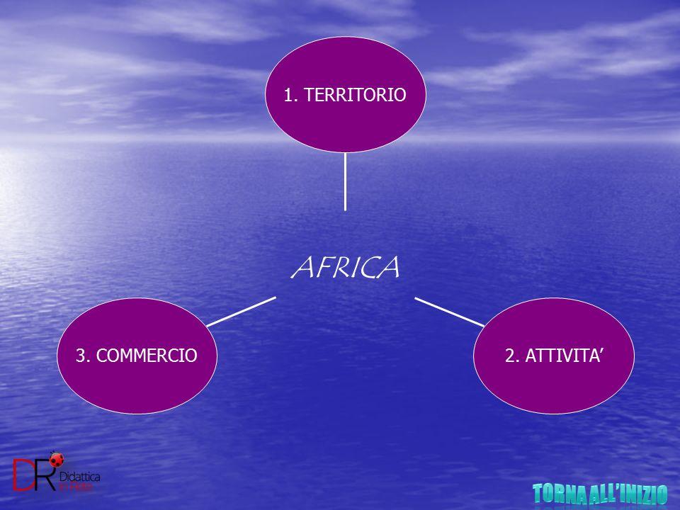 3. COMMERCIO2. ATTIVITA' 1. TERRITORIO AFRICA