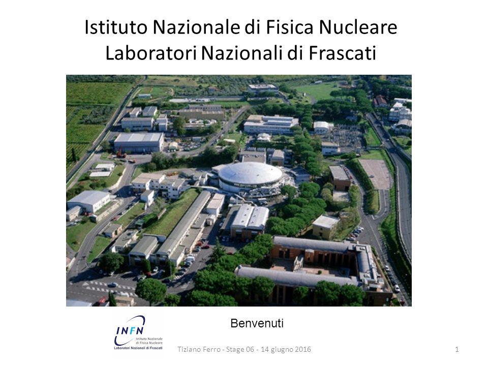 Istituto Nazionale di Fisica Nucleare Laboratori Nazionali di Frascati Tiziano Ferro - Stage 06 - 14 giugno 20161 Benvenuti