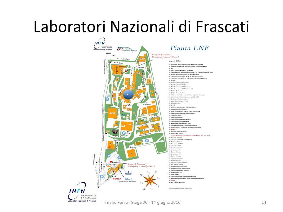Laboratori Nazionali di Frascati Tiziano Ferro - Stage 06 - 14 giugno 201614