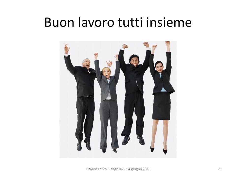 Buon lavoro tutti insieme Tiziano Ferro - Stage 06 - 14 giugno 201621