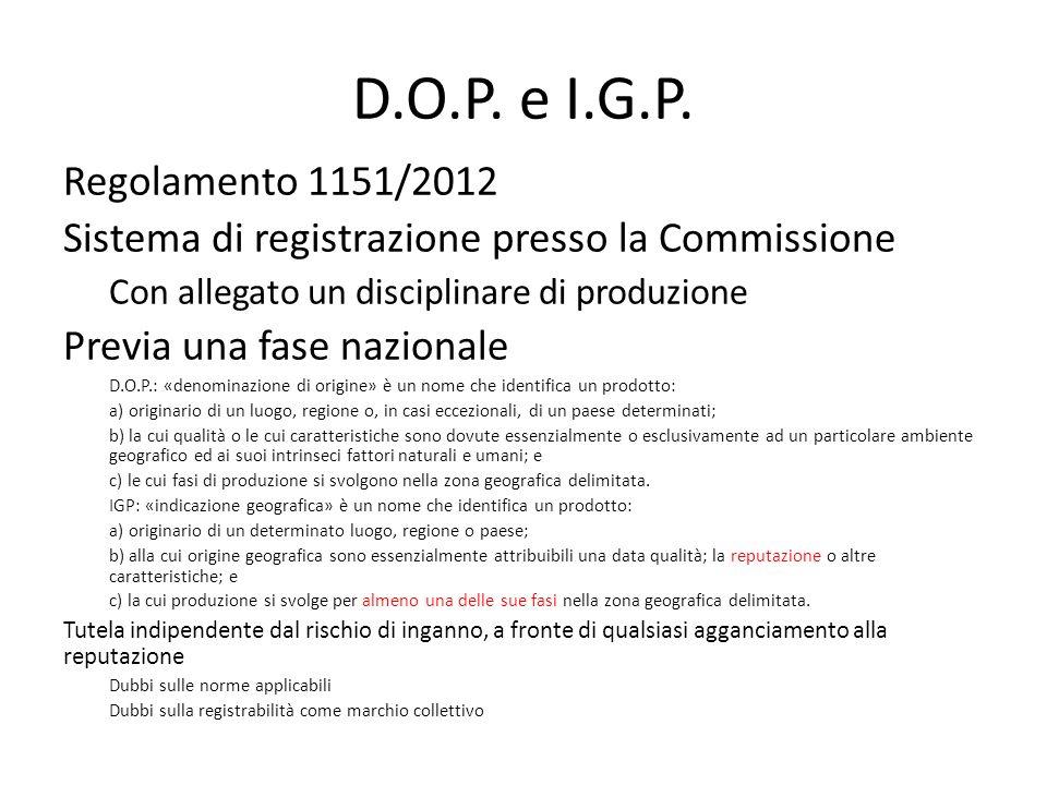 D.O.P. e I.G.P.