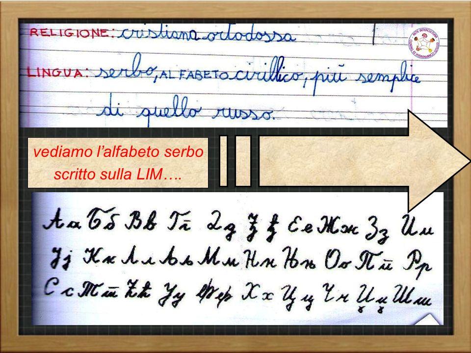 vediamo l'alfabeto serbo scritto sulla LIM….
