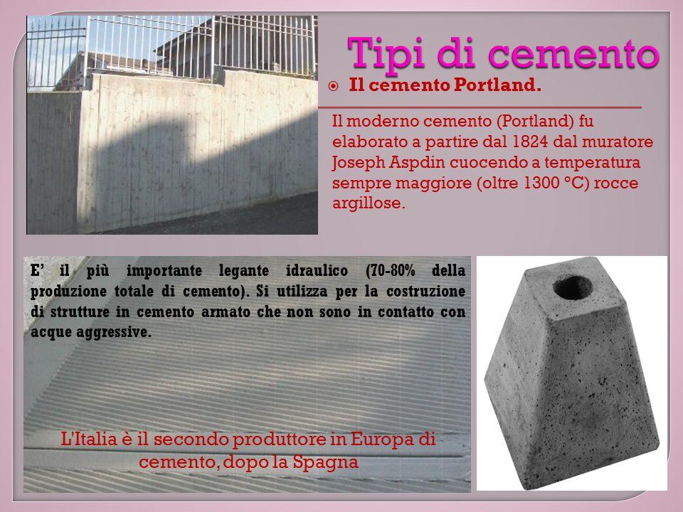  Il cemento Portland.