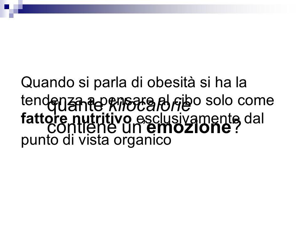 Quando si parla di obesità si ha la tendenza a pensare al cibo solo come fattore nutritivo esclusivamente dal punto di vista organico quante kilocalor