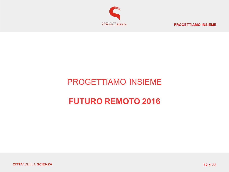PROGETTIAMO INSIEME FUTURO REMOTO 2016 12 di 33