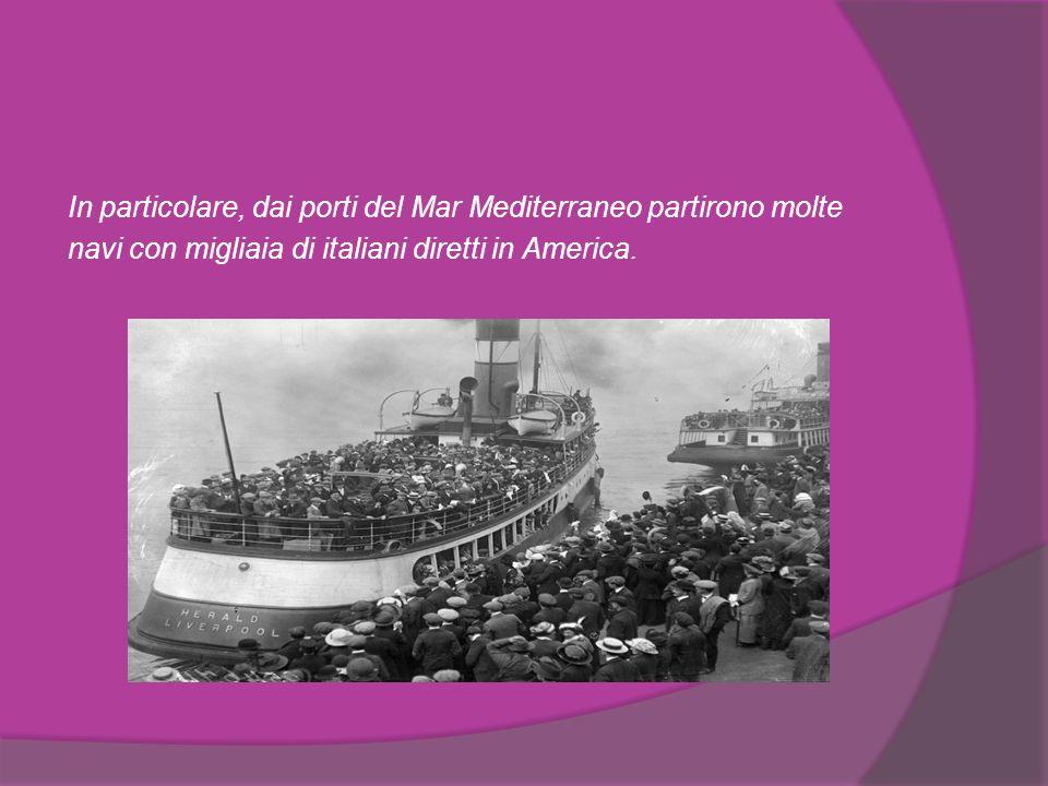 Caratteristiche Tra il 1860 e il 1885 sono state registrate più di 10 milioni di partenze dall Italia.