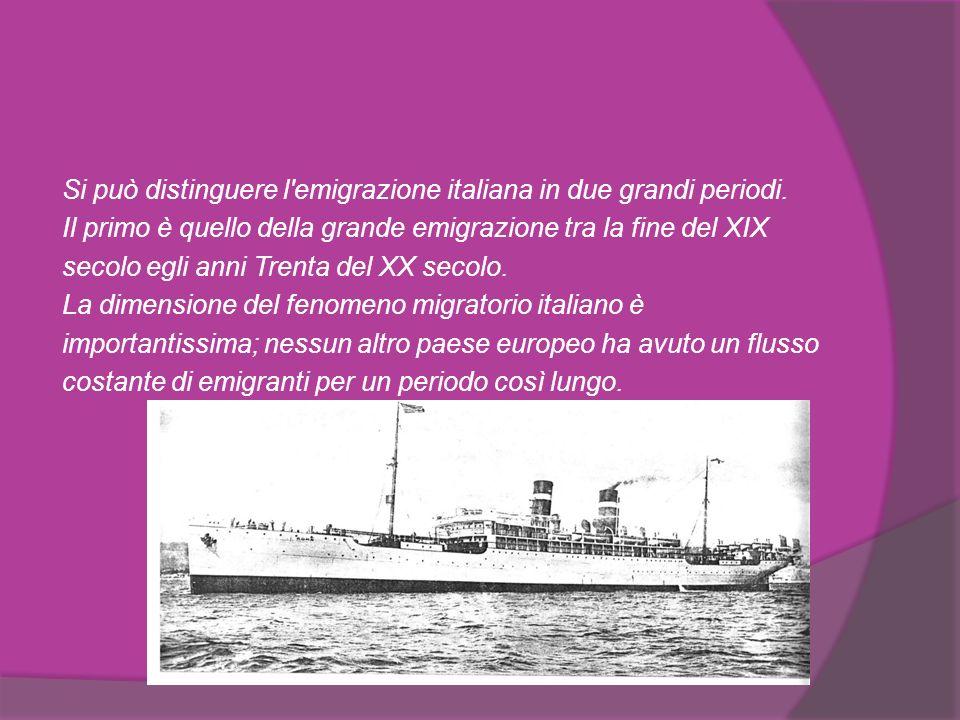 Tutte le regioni italiane, nessuna esclusa, hanno contribuito alla grande massa di italiani nel mondo.