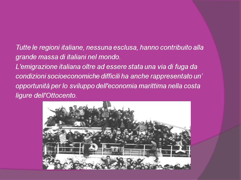 La Grande Emigrazione La Grande Emigrazione ha avuto come punto d origine la diffusa povertà di vaste aree dell Italia.