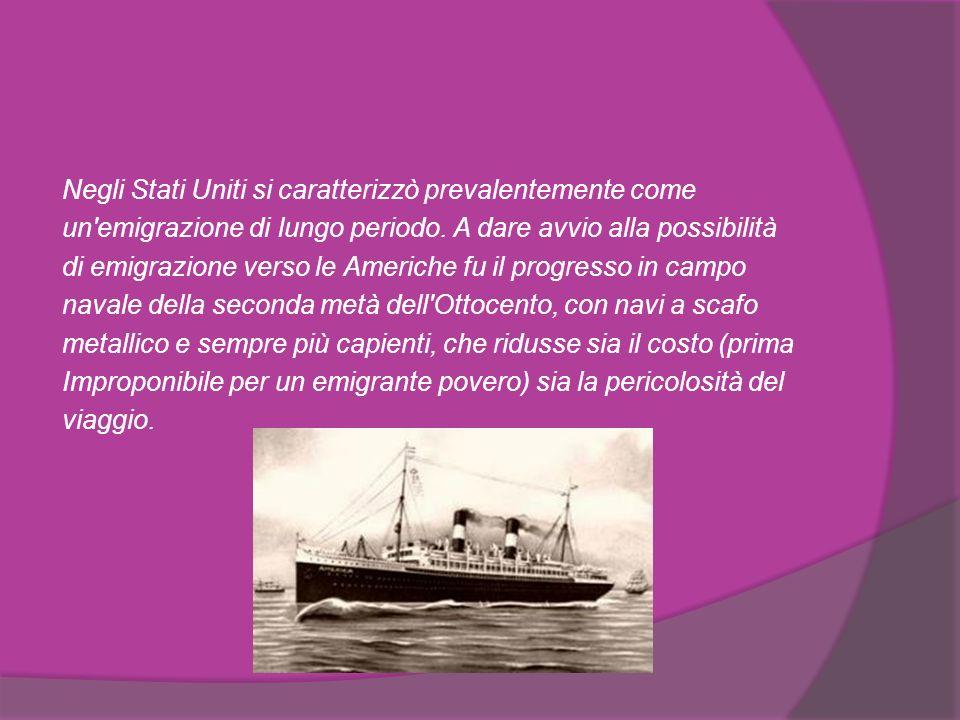 L'Emigrazione verso il Brasile fu favorita a partire dal 1888 quando in quel paese fu abolita la schiavitù, cosa che rese favorevole quel paese all accoglienza di manodopera d immigrazione.