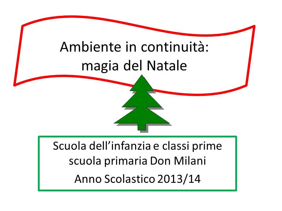 Ambiente in continuità: magia del Natale Scuola dell'infanzia e classi prime scuola primaria Don Milani Anno Scolastico 2013/14