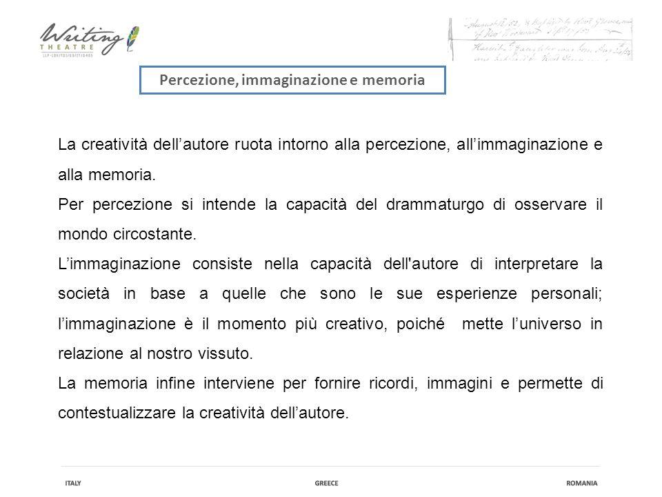 Percezione, immaginazione e memoria La creatività dell'autore ruota intorno alla percezione, all'immaginazione e alla memoria.
