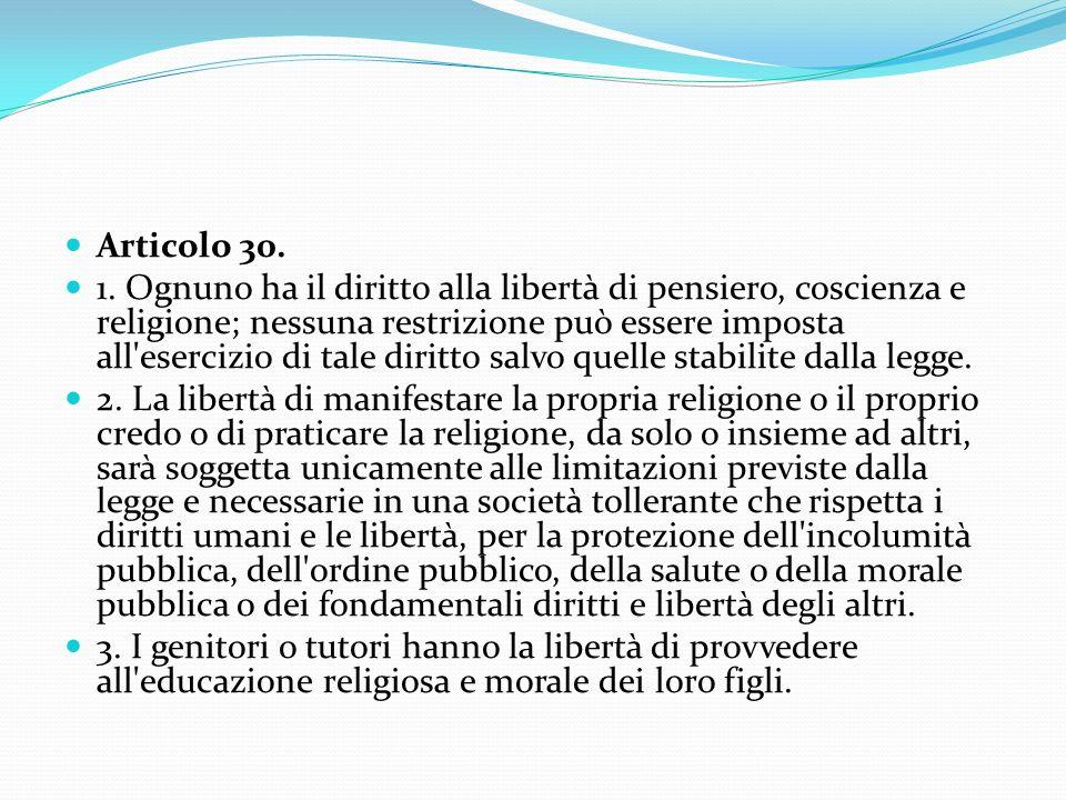 Articolo 30. 1.