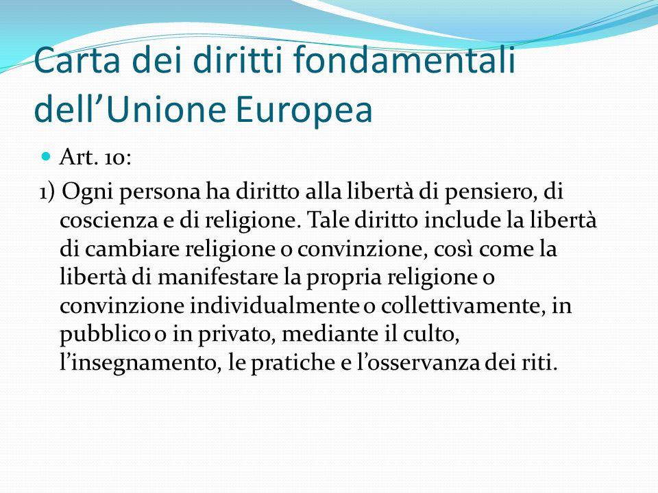Carta dei diritti fondamentali dell'Unione Europea Art.