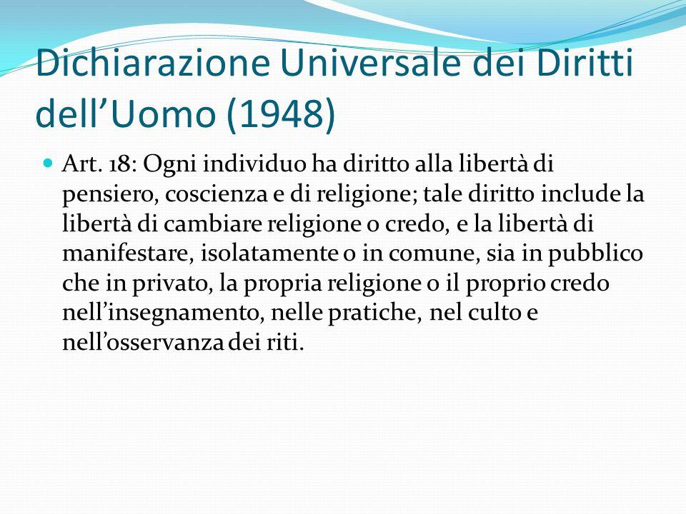 Dichiarazione Universale dei Diritti dell'Uomo (1948) Art.
