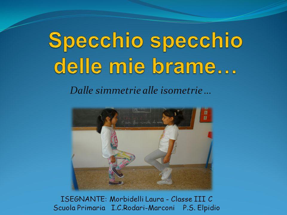 Dalle simmetrie alle isometrie … ISEGNANTE: Morbidelli Laura - Classe III C Scuola Primaria I.C.Rodari-Marconi P.S. Elpidio