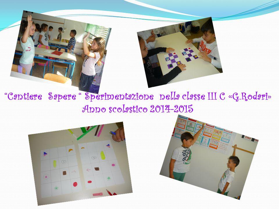 """""""Cantiere Sapere """" Sperimentazione nella classe III C «G.Rodari» Anno scolastico 2014-2015"""