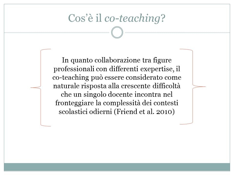 Cos'è il co-teaching.