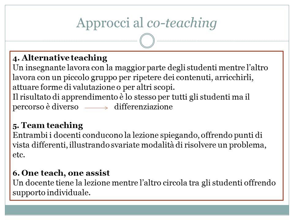 Approcci al co-teaching 4.