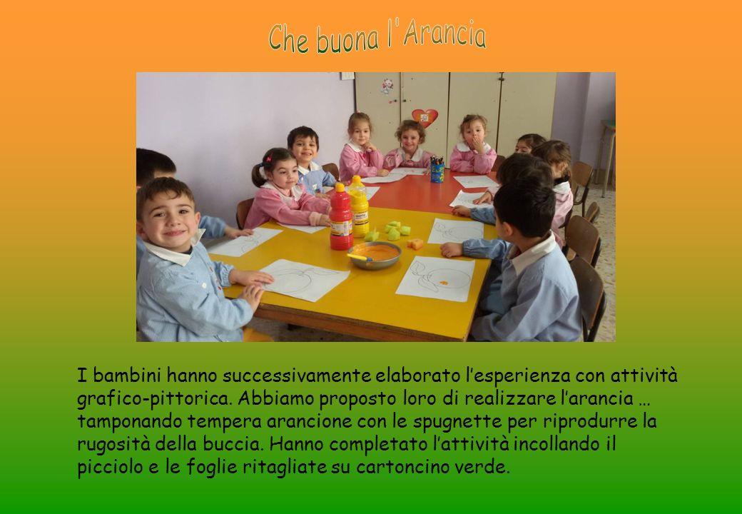 I bambini hanno successivamente elaborato l'esperienza con attività grafico-pittorica.