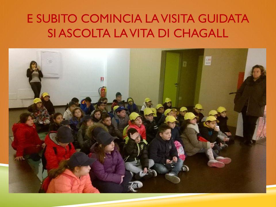 E SUBITO COMINCIA LA VISITA GUIDATA SI ASCOLTA LA VITA DI CHAGALL