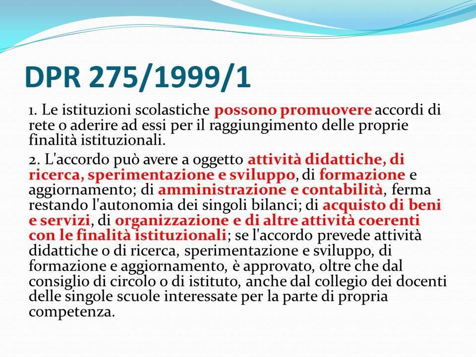 DPR 275/1999/1 1.