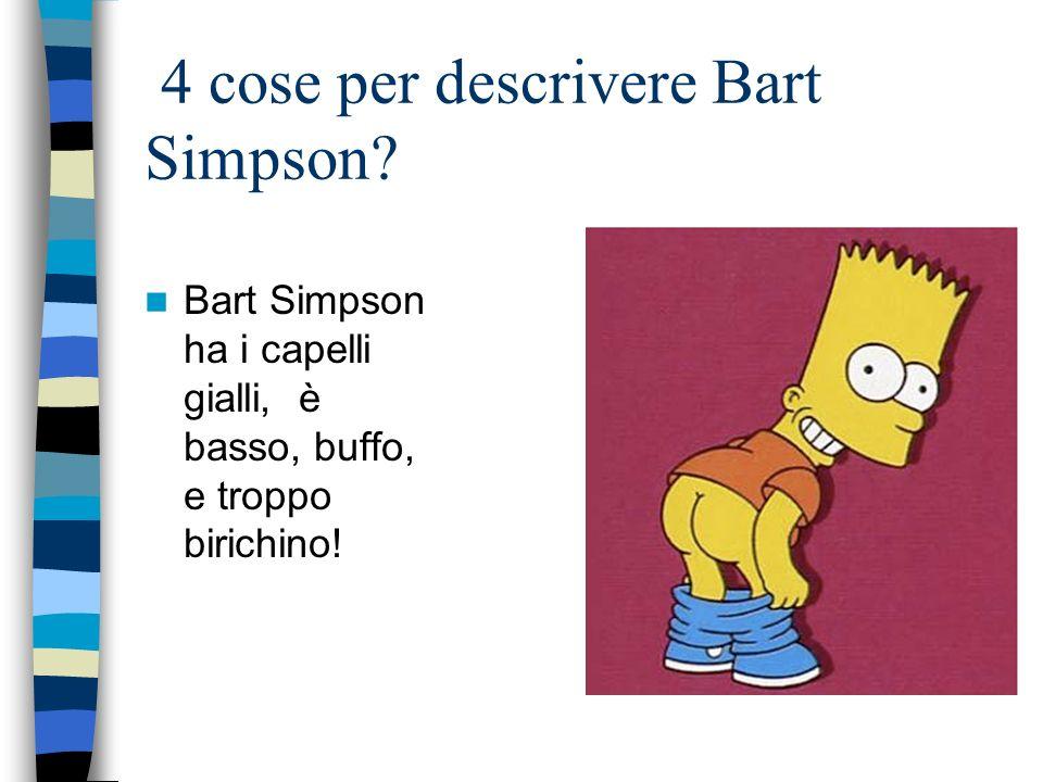 4 cose per descrivere Bart Simpson.