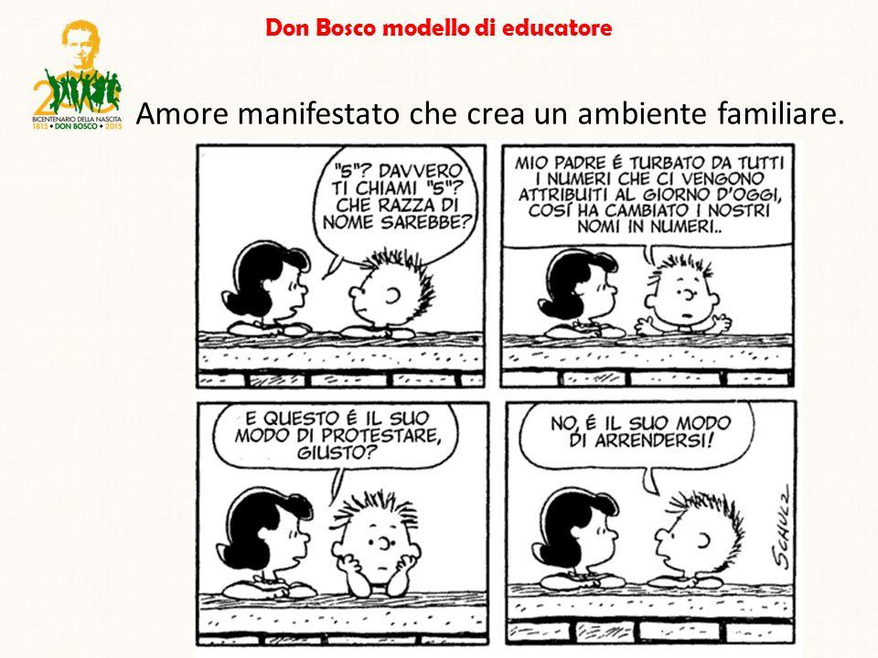 Don Bosco modello di educatore Amore manifestato che crea un ambiente familiare.