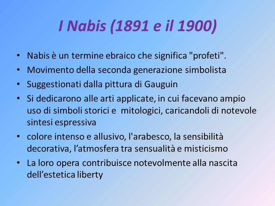 I Nabis (1891 e il 1900) Nabis è un termine ebraico che significa profeti .