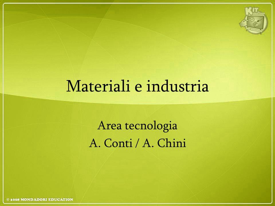 Materiali e industria Area tecnologia A. Conti / A. Chini
