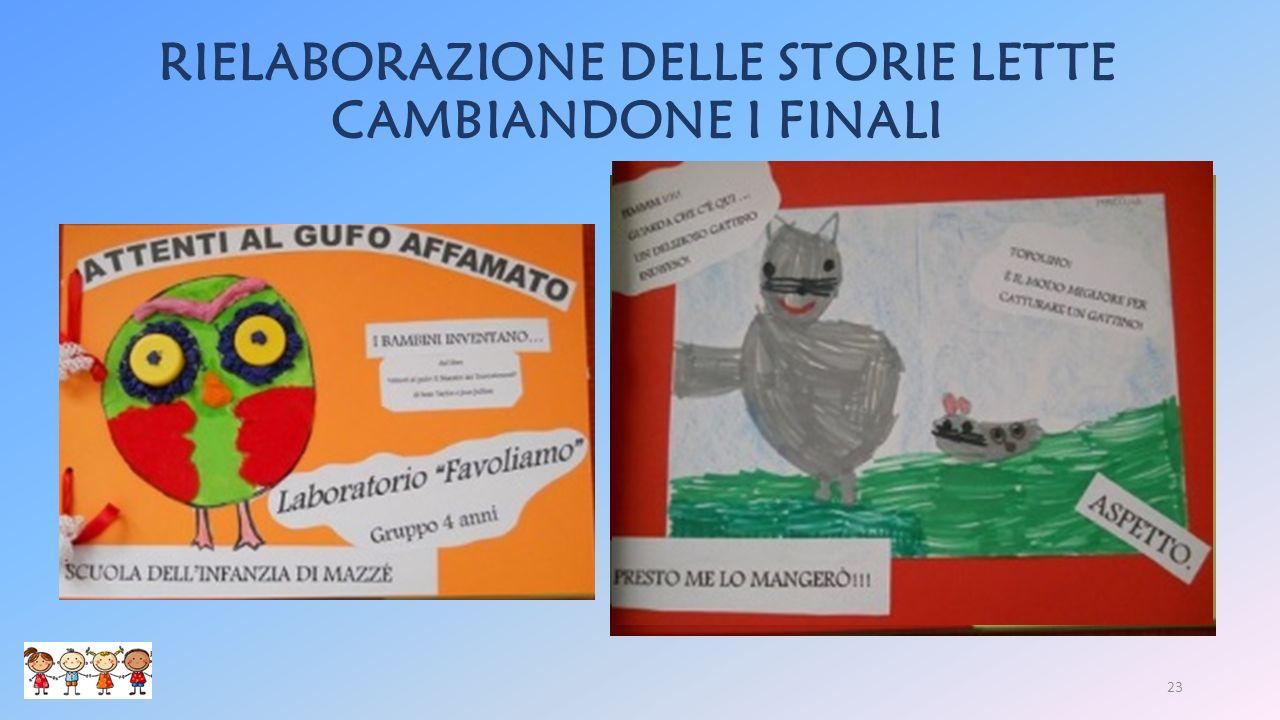 RIELABORAZIONE DELLE STORIE LETTE CAMBIANDONE I FINALI 23