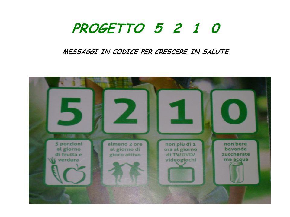 PROGETTO 5 2 1 0 MESSAGGI IN CODICE PER CRESCERE IN SALUTE