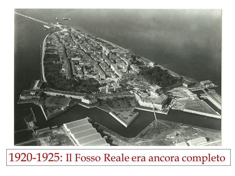 1920-1925: Il Fosso Reale era ancora completo