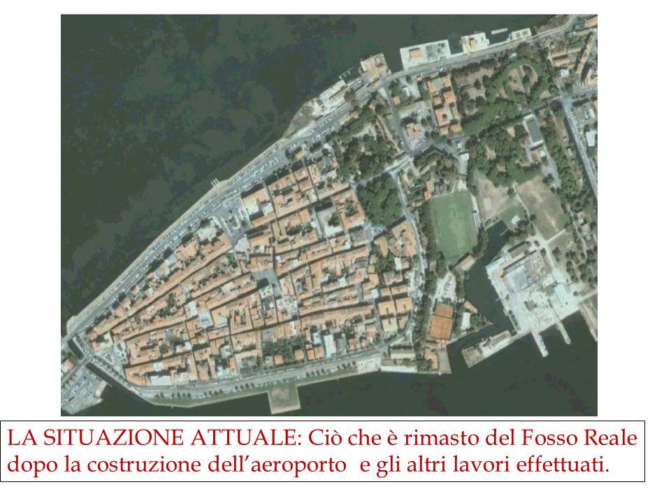 LA SITUAZIONE ATTUALE: Ciò che è rimasto del Fosso Reale dopo la costruzione dell'aeroporto e gli altri lavori effettuati.