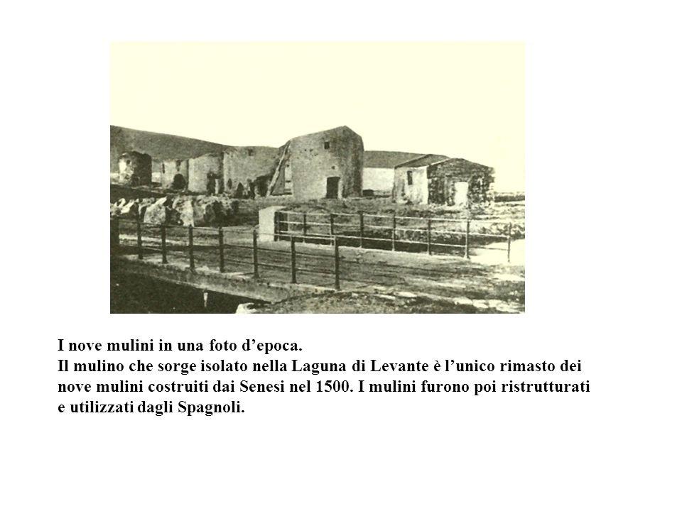 I nove mulini in una foto d'epoca.