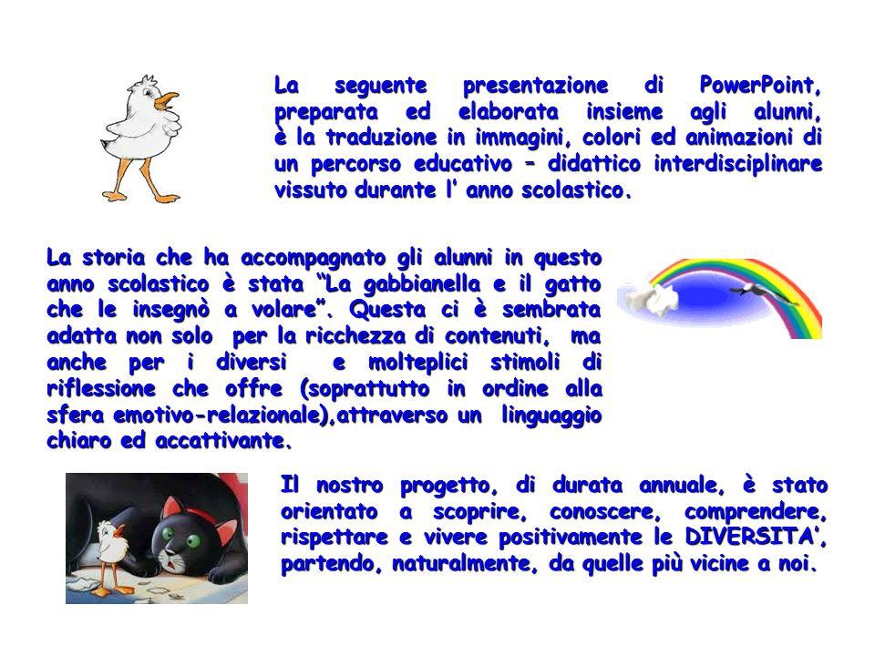 La seguente presentazione di PowerPoint, preparata ed elaborata insieme agli alunni, è la traduzione in immagini, colori ed animazioni di un percorso educativo – didattico interdisciplinare vissuto durante l' anno scolastico.