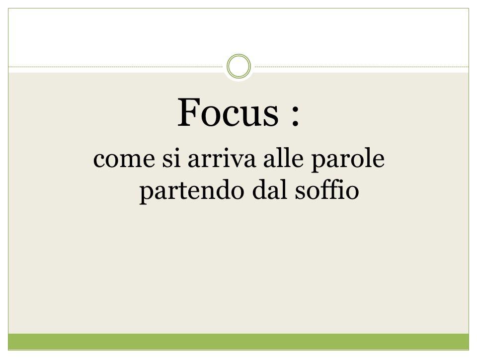 Focus : come si arriva alle parole partendo dal soffio