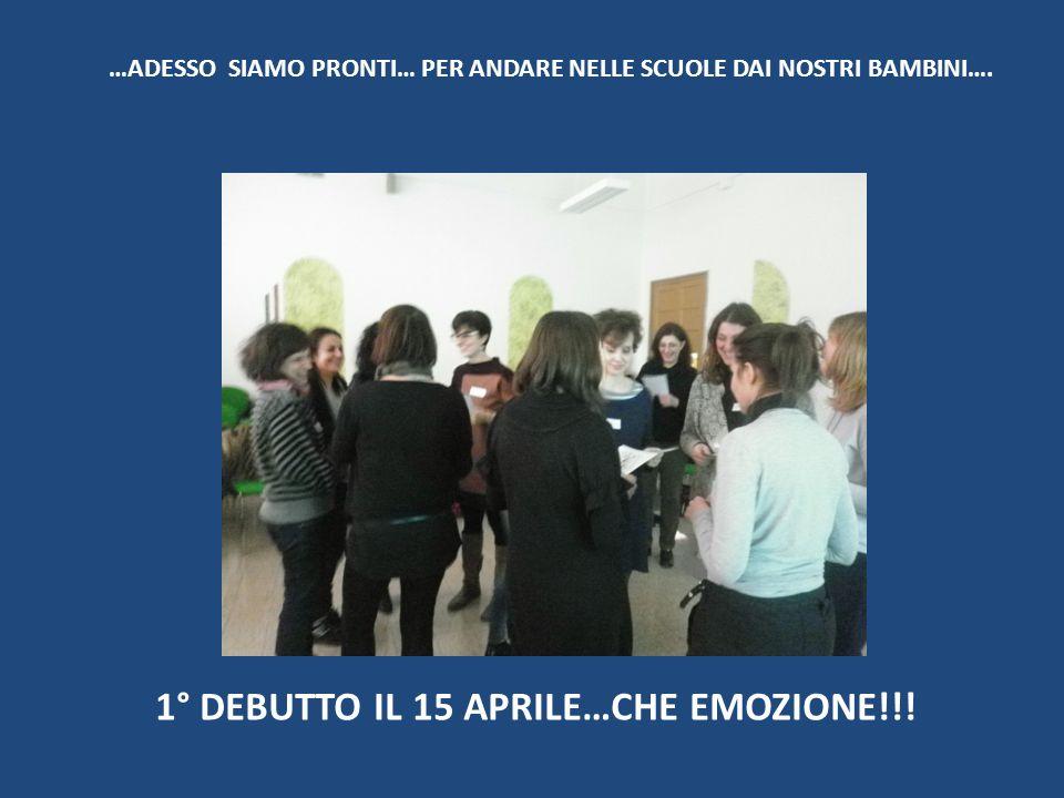 …ADESSO SIAMO PRONTI… PER ANDARE NELLE SCUOLE DAI NOSTRI BAMBINI….