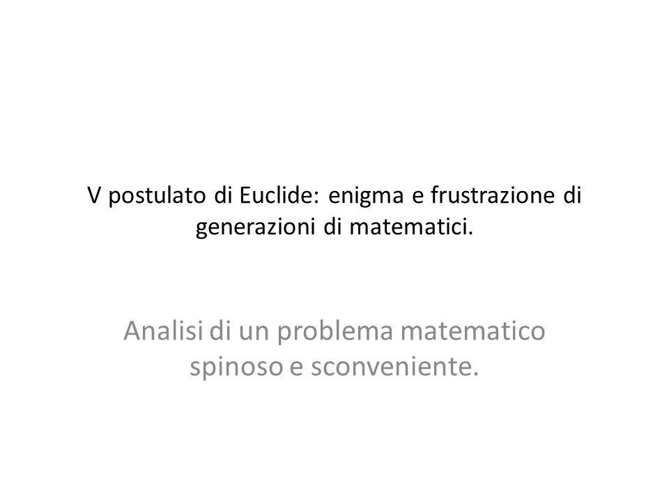 V postulato di Euclide: enigma e frustrazione di generazioni di matematici.
